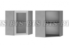 Шкаф настенный угловой со стеклом 6УВ2