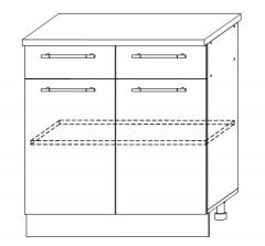 ШН2Я 800 Шкаф нижний 2 ящика кухня София