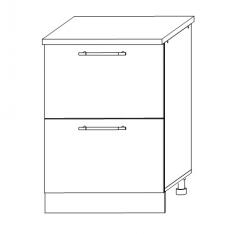 ШНГ2Я 600 Шкаф нижний 2 ящика кухня София