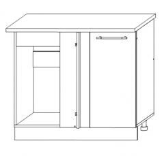 ШНУП 1000 Шкаф нижний угловой прямоугольный кухня София