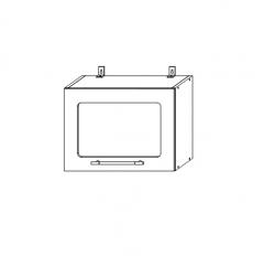 ШВГС 500 Шкаф верхний горизонтальный со стеклом кухня София