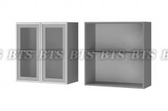 Шкаф настенный 2-дверный со стеклом 7В2
