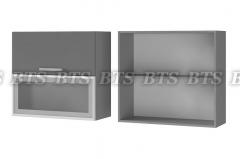 Шкаф настенный с дверями горизонтальными 8В3