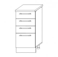 ШНЯ 400 Шкаф нижний с ящиками кухня София