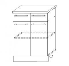 ШН2Я 600 Шкаф нижний 2 ящика кухня София