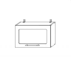ШВГС 600 Шкаф верхний горизонтальный со стеклом кухня София