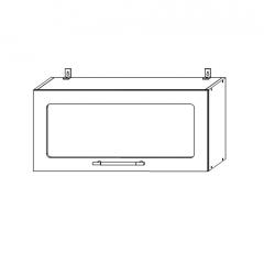 ШВГС 800 Шкаф верхний горизонтальный со стеклом кухня София