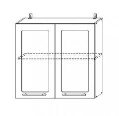 ШВС 800 Шкаф верхний со стеклом кухня София