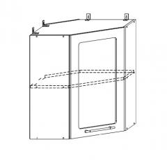 ШВУС 600х600 Шкаф верхний угловой со стеклом кухня София