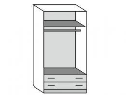 Шкаф распашной 2-х дверный (лак) - фото 2