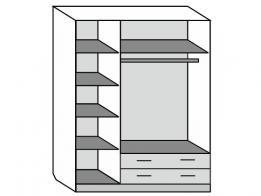 Шкаф распашной 3-х дверный (лак) - фото 2