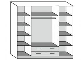 Шкаф распашной 4-х дверный (лак) - фото 2